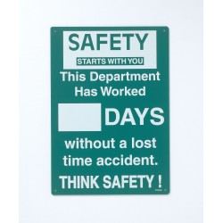 Brady - SM793E - Safety Record Signs, 20 x 14In