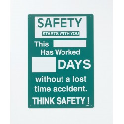 Brady - SM795E - Safety Record Signs, 20 x 14In, ENG