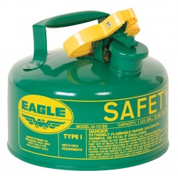 Eagle Mfg - UI-10-SG - Eagle 1 Gallon Green 24 Gauge Galvanized Steel Type I Safety Can With Non-Sparking Flame Arrestor, ( Each )
