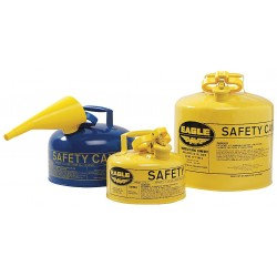 Eagle Mfg - UI-10-SY - Eagle 1 Gallon Yellow 24 Gauge Galvanized Steel Type I Safety Can With Non-Sparking Flame Arrestor Without Funnel, ( Each )