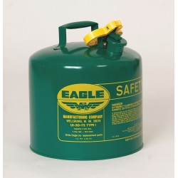 Eagle Mfg - UI-20-SG - Eagle 2 Gallon Green 24 Gauge Galvanized Steel Type I Safety Can With Non-Sparking Flame Arrestor, ( Each )