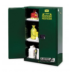 "Justrite - 894504 - Pesticide Safety Cabinet, Manual Door Type, 45 gal. Capacity, 65"" Height, 43"" Width, 18"" Depth"