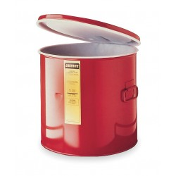 "Justrite - 27615 - Red Cleaning/Dip Tank, Galvanized Steel, Benchtop Mounting Type, 5 gal. Capacity, 13"" Height"