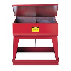 Justrite - 27140 - Red Twin Chamber Rinse Tank, Galvanized Steel, Floor Standing Mounting Type, 8 gal. Capacity, 8-3/4""