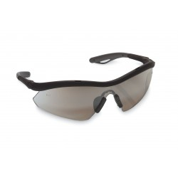 Crews - HB117 - Dwos Hombre Safety Glasses Black Frame Silver Mi