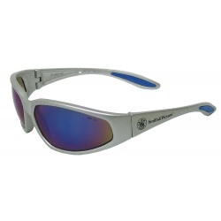 Smith & Wesson - 19855 - Smith Wesson 38 Special Scratch-Resistant Safety Glasses, Blue Mirror Lens Color