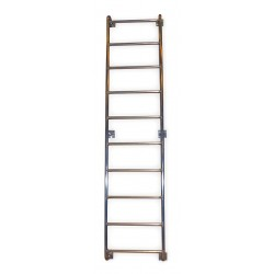 Tri Arc - WLA8SS - 12 ft. 2 Overall Height Aluminum Fixed Ladder, 21-1/16 Overall Width, 300 lb. Load Capacity