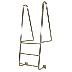 Tri Arc - WLA3WT - 6 ft. Overall Height Aluminum Fixed Ladder, 21-1/16 Overall Width, 300 lb. Load Capacity