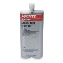 Loctite / Henkel - 1108758 - Gray Anchor Bolt Grout HP Kit, 20.7 oz. Dual Cartridge, Coverage: Not Specified