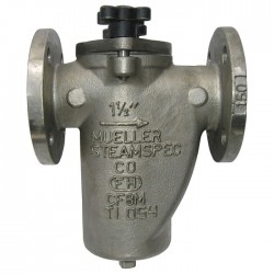 Mueller Steam Specialty - 6 125F SS - 6 Simplex Strainer, Flanged, .125 Mesh, 20 Length, Stainless Steel