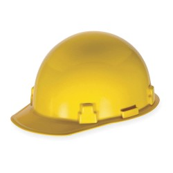 MSA - 486959 - Hard Hat, 4 pt. Ratchet Suspension, Yellow, Hat Size: 6-1/2 to 8