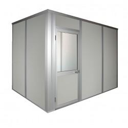 Porta-King - VK1DW 8'X8' 4-WALL - Modular In-Plant Office, 4-Wall, 8x8, Vinyl