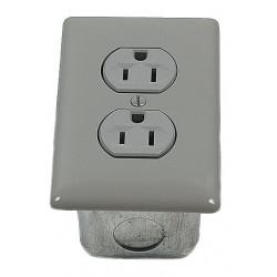 Porta-King - STD115VK1 - Standard Duplex Outlet, No-Wire, 115V, Gray