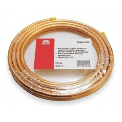 Mueller Industries - 655R - 50 ft. Soft Coil Copper Tubing, 3/8 Outside Dia., 0.250 Inside Dia.
