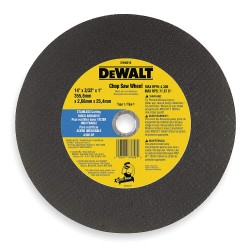 Dewalt - DW8016 - 14 Type 1 Aluminum Oxide Abrasive Cut-Off Wheel, 1 Arbor, 7/64-Thick, 4300 Max. RPM