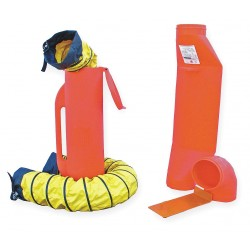 Air Systems - SV-CUP - 6 and 15 ft. Ventilation Kit with 8 Dia., Orange; Use With Non-Hazardous Confined Space