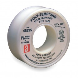Anti-Seize - 46235 - 1/2W PTFE Thread Sealant Tape, White, 520 Length