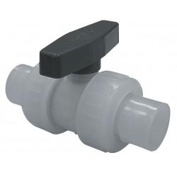 Watts Water Technologies - 1/2 BV - Polypropylene Socket x Socket Ball Valve, Locking Lever, 1/2 Pipe Size