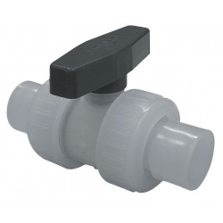 Watts Water Technologies - 2 BV - Polypropylene Socket x Socket Ball Valve, Locking Lever, 2 Pipe Size