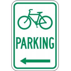 Lyle Signs - D4-3L-12HA - Parking, No Header, Aluminum, 18 x 12, High Intensity Prismatic