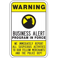 Lyle Signs - CW-013-18HA - Security and Surveillance, No Header, Aluminum, 24 x 18, High Intensity Prismatic