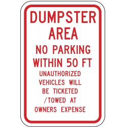 Lyle Signs - DL-019-12HA - Parking, No Header, Aluminum, 18 x 12, High Intensity Prismatic