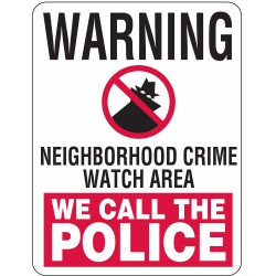 Lyle Signs - CW-014-18HA - Security and Surveillance, No Header, Aluminum, 18 x 24, High Intensity Prismatic