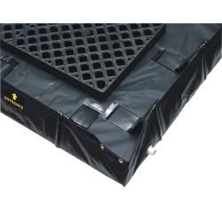 Justrite - 28572 - Justrite 6' X 16' X 8 Decon QuickBerm Black PVC Coated Fabric Spill Berm, ( Each )
