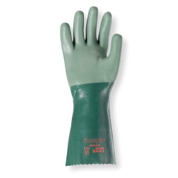 Ansell-Edmont - 08-354 - Chemical Resistant Gloves, Standard Weight Thickness, Interlock Knit Lining, Green, PR 1