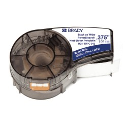 Brady - M21-375-C-342 - Black/White Heat Shrink Polyolefin Label Tape Cartridge, Polyolefin Label Type, 7 ft. Length, 0.645