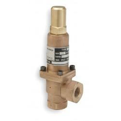 Pentair - 8374-0400 - Bronze Adjustable Back Pressure Relief Valve, FNPT Inlet Type, FNPT Outlet Type