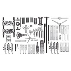 Proto - J4235B - Proto J4235B 29-Inch 10-Ton Capacity Fractional Ease Master Puller Set with Case