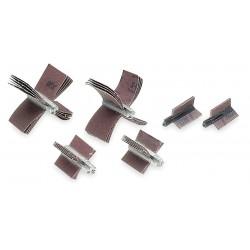 Merit Abrasives - 08834154092 - 80 Grit Coated Aluminum Oxide Bore Polisher, 1-1/2 Max. Inner Dia., 1 Min. Inner Dia.