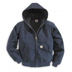 Carhartt - J131 DNY REG MED - Hooded Jacket, Insulated, Blue, M