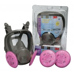 3M - 68097 - Bayonet Connection Full Face Respirator, 4 Point Suspension, M