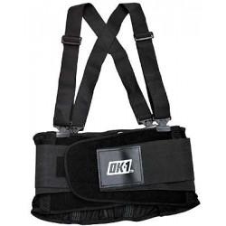 OK-1 - OK-200S-3X - Nylon Back Support 3XL, 8 Width Fits Waist Size 54 to 61, Black