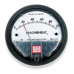 Dwyer Instruments - 2001 - 1/8 FNPT Differential Pressure Gauge with 4 Dial, 0 to 1 In. H2O, Die Cast Aluminum