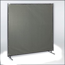 Steiner Industries - 301-6X8 - Cotton Duck Welding Curtain, 8 ft. High x 0.025 Wide x 6 ft. Thick, Olive