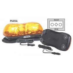 PSE Amber - 420AH - Amber Mini Lightbar, Strobe Lamp Type, Permanent Mounting, Number of Heads: 2