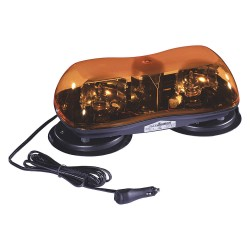 PSE Amber - 420ASH - Amber Mini Lightbar, Strobe Lamp Type, Magnetic/Suction Cup Mount Mounting, Number of Heads: 2