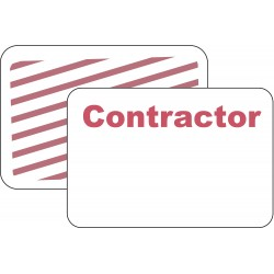 Brady - 95689 - Contractor Badge, 1 Day, Red/White, PK500