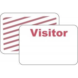 Brady - 95673 - Visitor Badge, 1 Week, Red/White, PK500