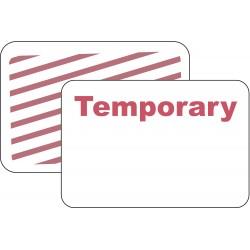 Brady - 95675 - Temporary Badge, 1 Week, Red/White, PK500