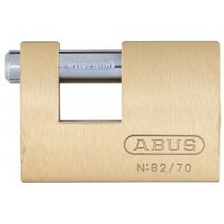 ABUS - 82/70 KA - 2H Keyed-Alike U-Shaped Keyed Padlock, Shackle: H: 1/2 W: 7/8 Dia: 15/32