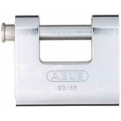 ABUS - 92/65 KD - 2-1/3H Keyed-Different U-Shaped Keyed Padlock, Shackle: H: 1/2 W: 1-1/8 Dia: 7/16