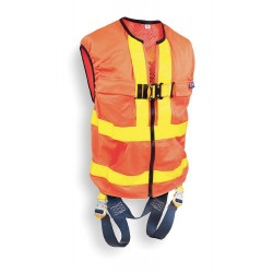 DBI / Sala - 1107403 - S General Industry Full Body Harness, 6000 lb. Tensile Strength, 420 lb. Weight Capacity, Yellow/Ora
