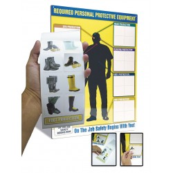 Accuform Signs - PPE468 - Label Booklet Only Accuform Self-adhesive, Ea