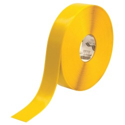 Mighty Line - 2YB - Floor Marking Tape, Solid, Continuous Roll, 2 Width, 1 EA