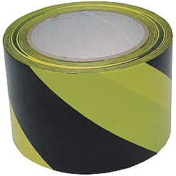 Accuform Signs - PTM738BKYL - Universal Hazard Tape Self Adhesive Black On Yellow, Rl