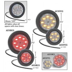 Maxxima / Panor - AX10RCG-KIT - Clearance Light, LED, Red, Round, 2-1/2 Dia